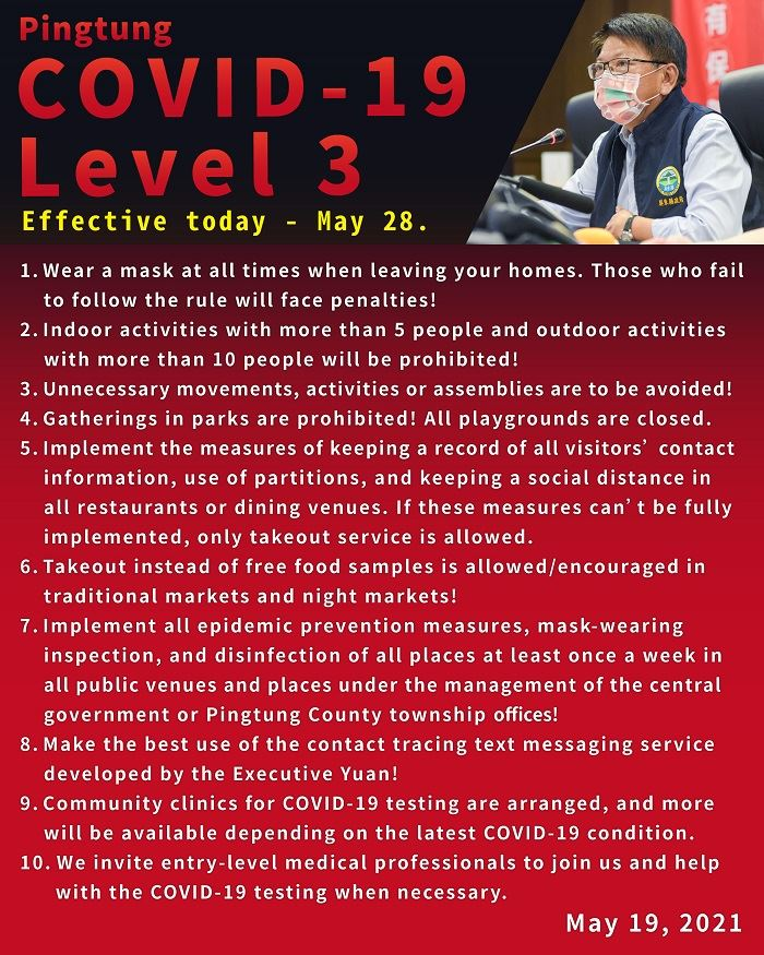 Pingtung  COVID-19  Level 3 Alert